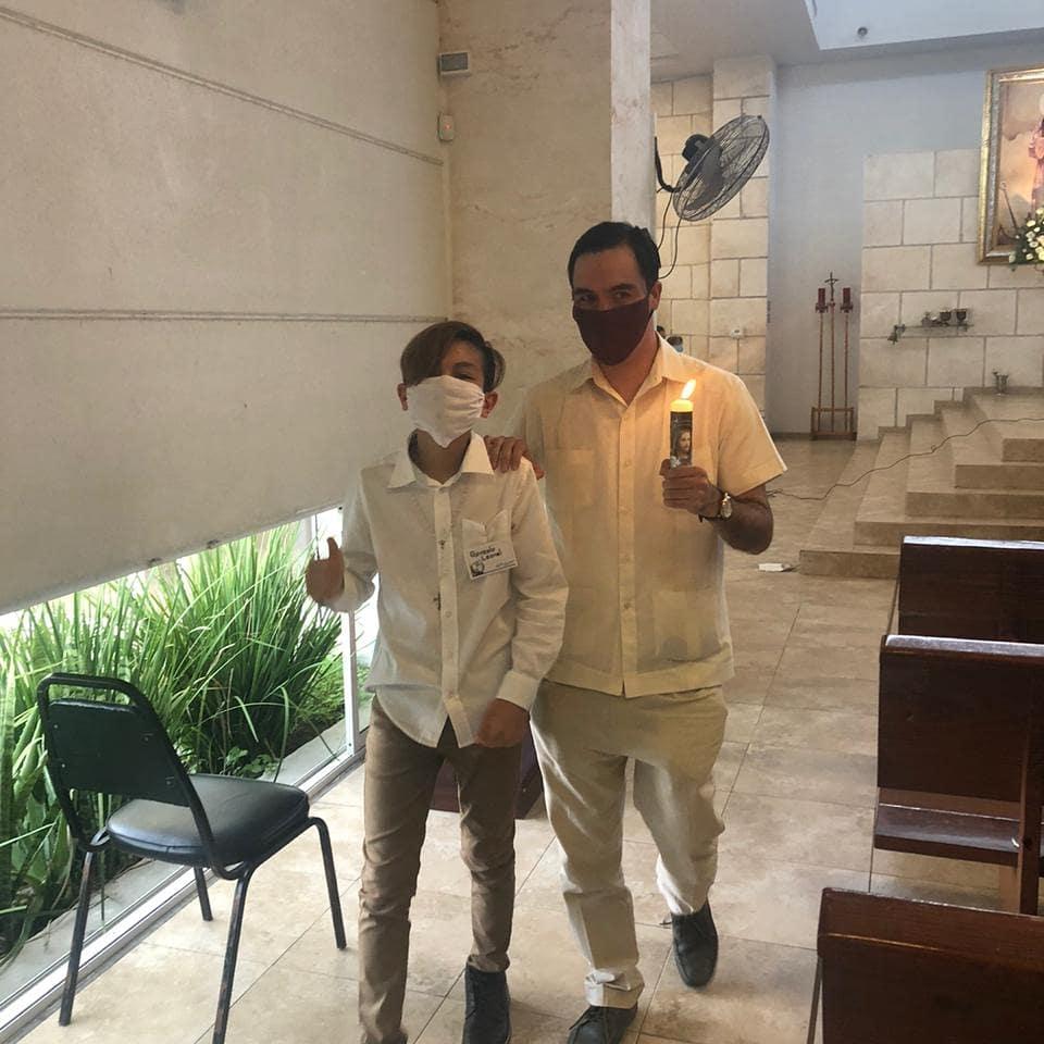 Hoy,  fui Padrino de confirmación y primera comunión de mi sobrino Gonzalo Leonel Galvan Macias. Gracias Dios por tus grandes bendiciones. https://t.co/BS02wM8Xl2