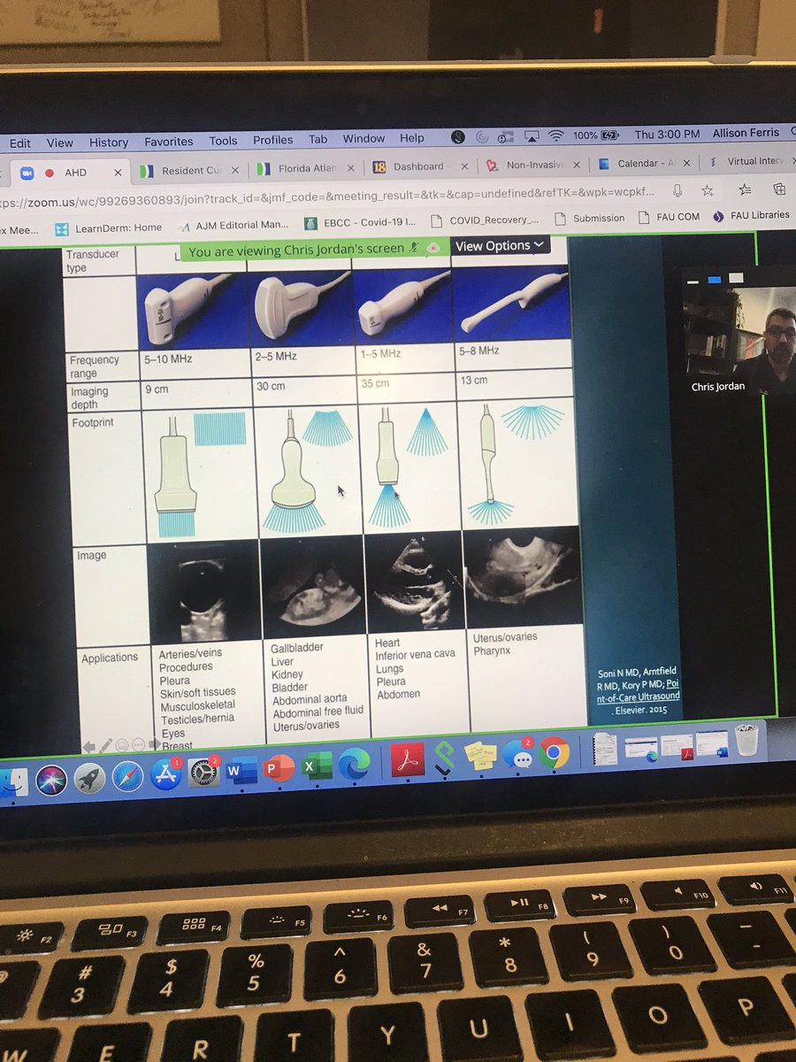 Today's #AHD included 2 hrs of #POCUS education! Looking forward to next month when we start practicing with the #ButterflyiQ handheld US 🤓#medtwitter #meded #Residency #FAUIM #residencylife #traininginparadise 🌴☀️🌊 https://t.co/sEZ2etleEf
