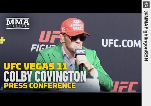 Watch #ColbyCovington Thinks #TyronWoodley Asked Not To Engage at #UFC Vegas 11 Presser - https://t.co/ksdWyqRdmk #mma https://t.co/e2uXxQLLsS