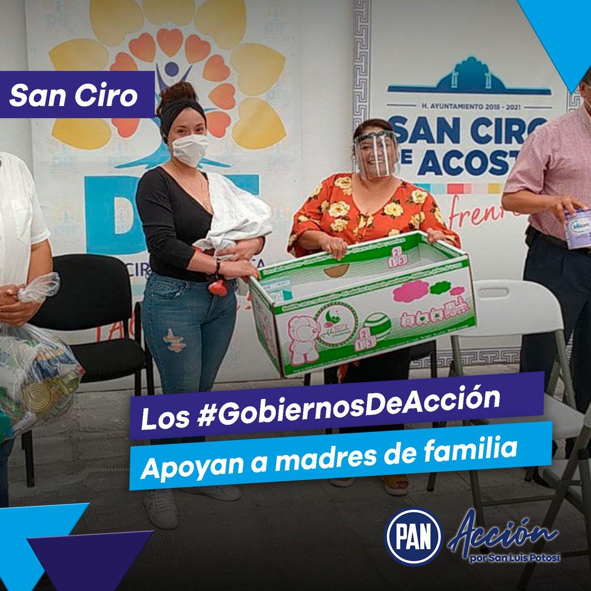 """Nuestros #GobiernosDeAcción se preocupan por el bienestar de las madres de familia.🙌🔵  En San Ciro de Acosta, los gobiernos panistas apoyaron a través del programa """"Construye un futuro, abraza corazones"""" a madres de familia para un mejor desarrollo de los menores de 6 meses.🔵 https://t.co/xLvuWwqhKu"""