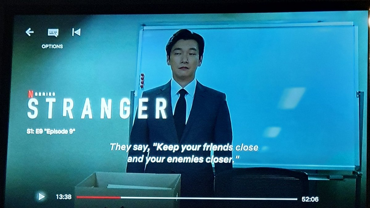 """Keep your friends close and your enemies closer"" 💯👌 #Stranger https://t.co/tqhAjhQw0f"