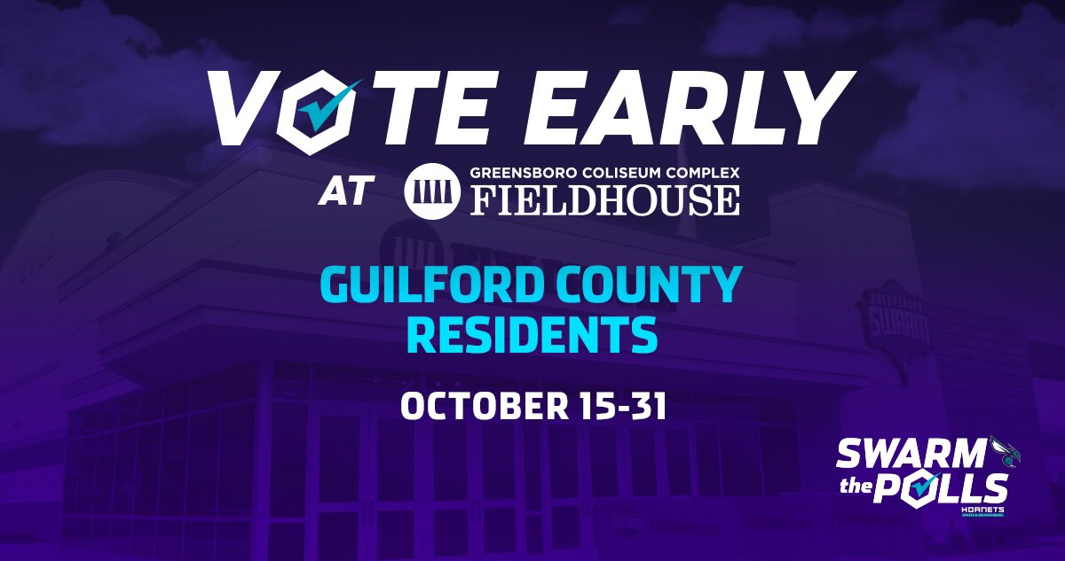NEWS • The Fieldhouse To Serve As Early Voting Site #SwarmthePolls   ➡️: https://t.co/PRzKEIQQqo https://t.co/9nw9y9Pgf2