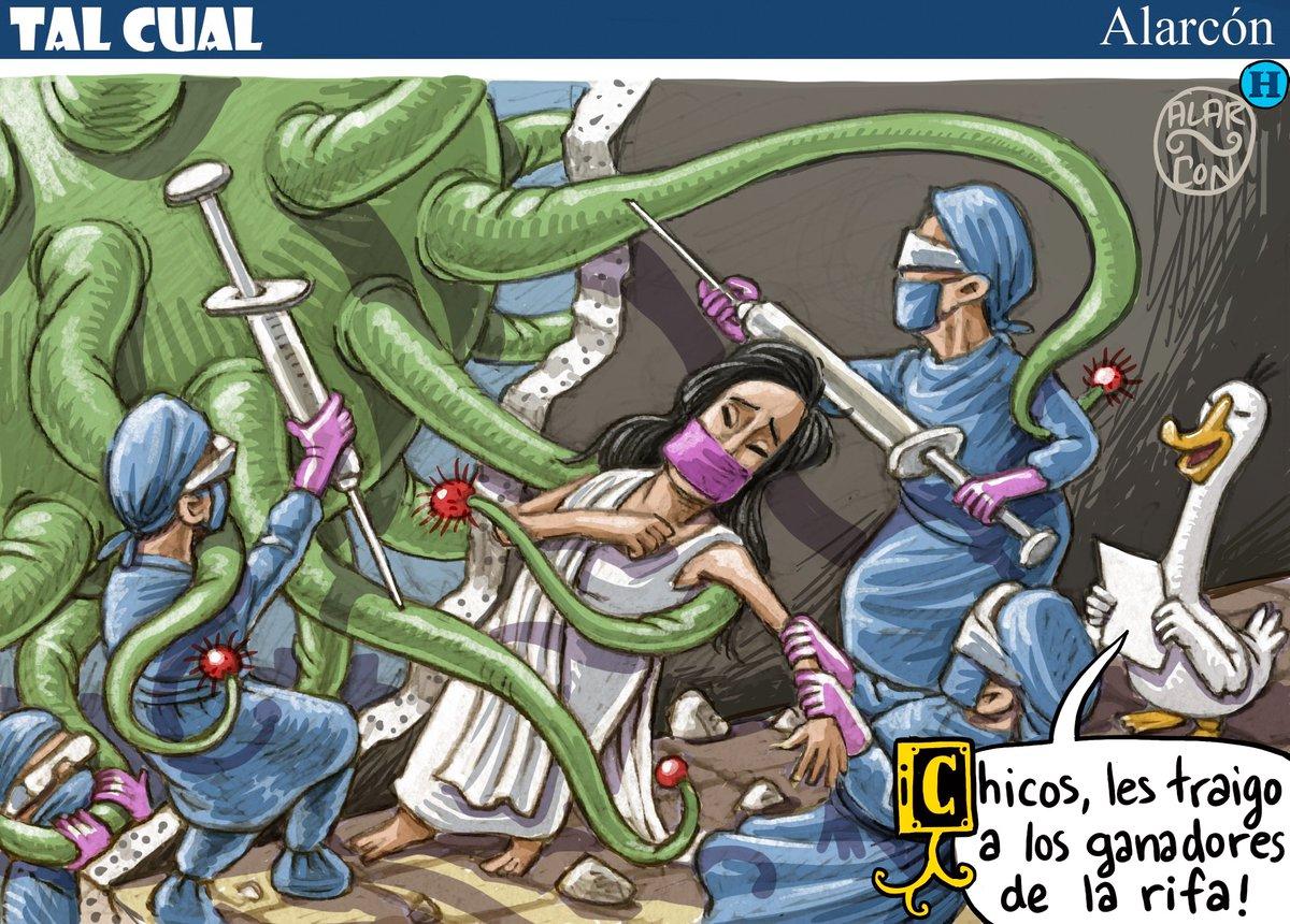 Mientras las heroínas y los héroes de México defendieden a la madre patria, el Presidente y su gobierno jugando a la rifa.  Cartón de @alarcondibujos. https://t.co/kkY9PUgDCD