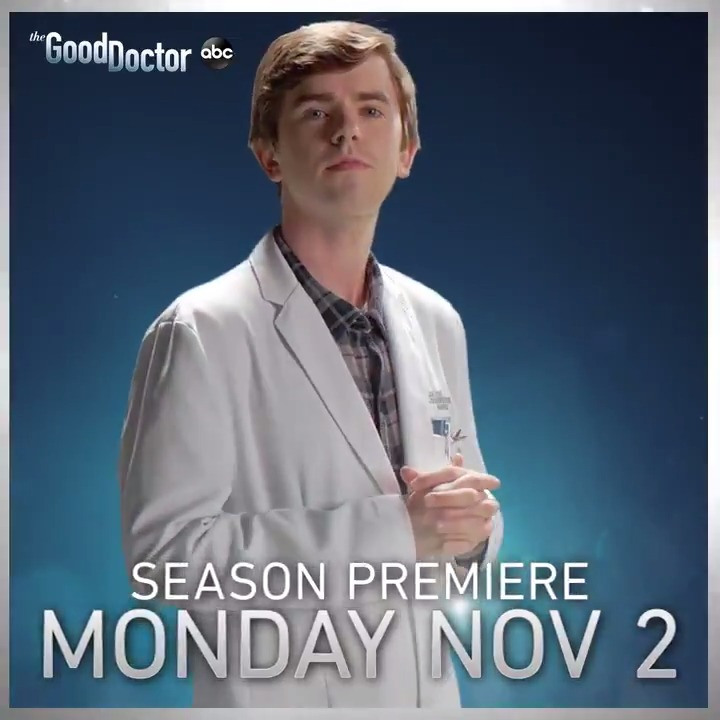 Mark your calendars because you have a date with #TheGoodDoctor! Season 4 premieres Monday, Nov 2 on ABC! https://t.co/mhbgT8A1oz