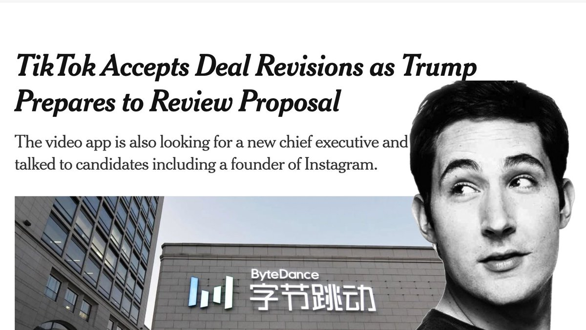 Instagram's Kevin Systrom becoming TikTok's CEO and crushing Reels would be the ultimate revenge for Zuckerberg stripping his autonomy. So spicy! https://t.co/CrxzgfeltM