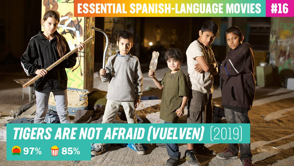 .@IssitaLopez's #TigersAreNotAfraid draws on childhood trauma for a story that deftly blends magical fantasy and hard-hitting realism - and leaves a lingering impact.  It's one of our 110 Essential Spanish-Language Movies to watch: https://t.co/zOEqhTS1IZ https://t.co/Beicci6i6j