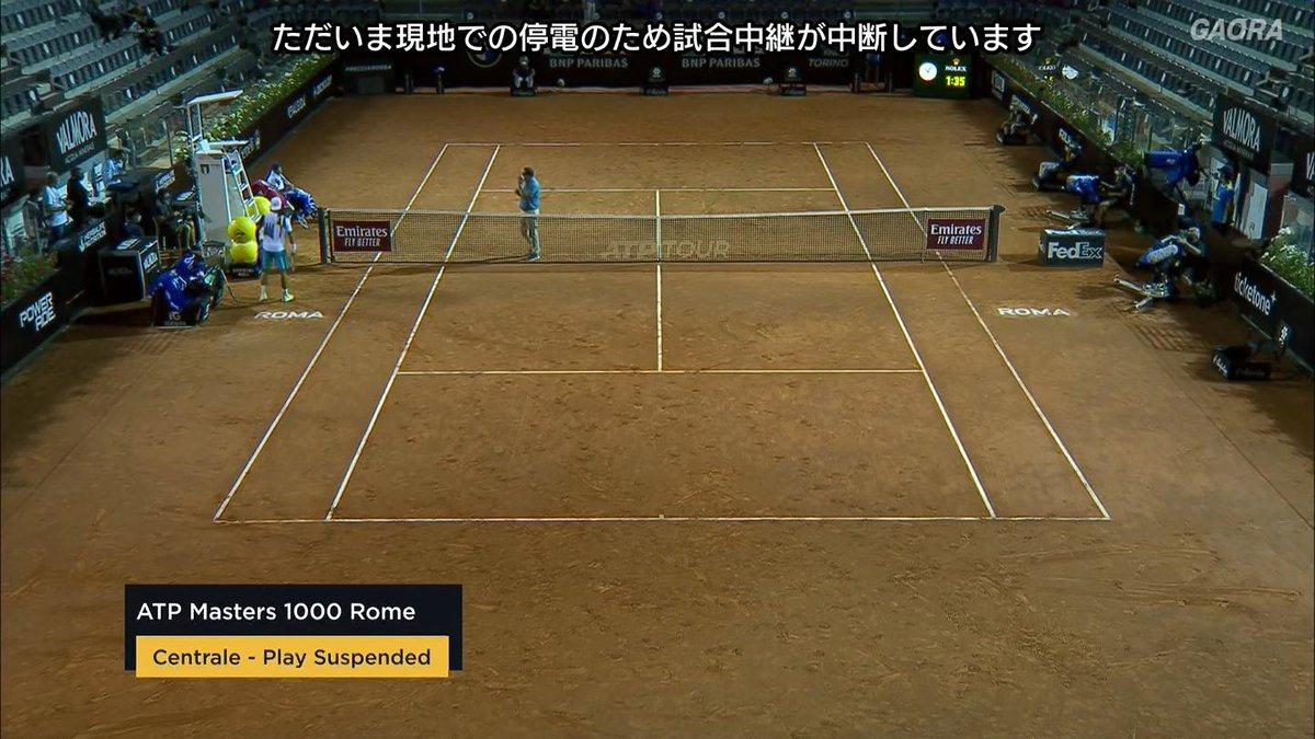 電気料金の支払いが行われた様ですw ほんのり明るくなってきましたw  🇯🇵錦織圭 vs ムゼッティ🇮🇹 BNLイタリア国際 ATP Masters 1000 2回戦🎾 https://t.co/rnF15QRVdn