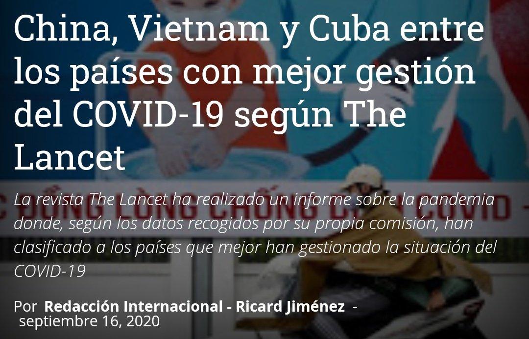 Enhorabuena al pueblo chino, cubano y vietnamita. La eficiencia de su gestión es internacionalmente reconocida✊ https://t.co/8bXJ64xVa5