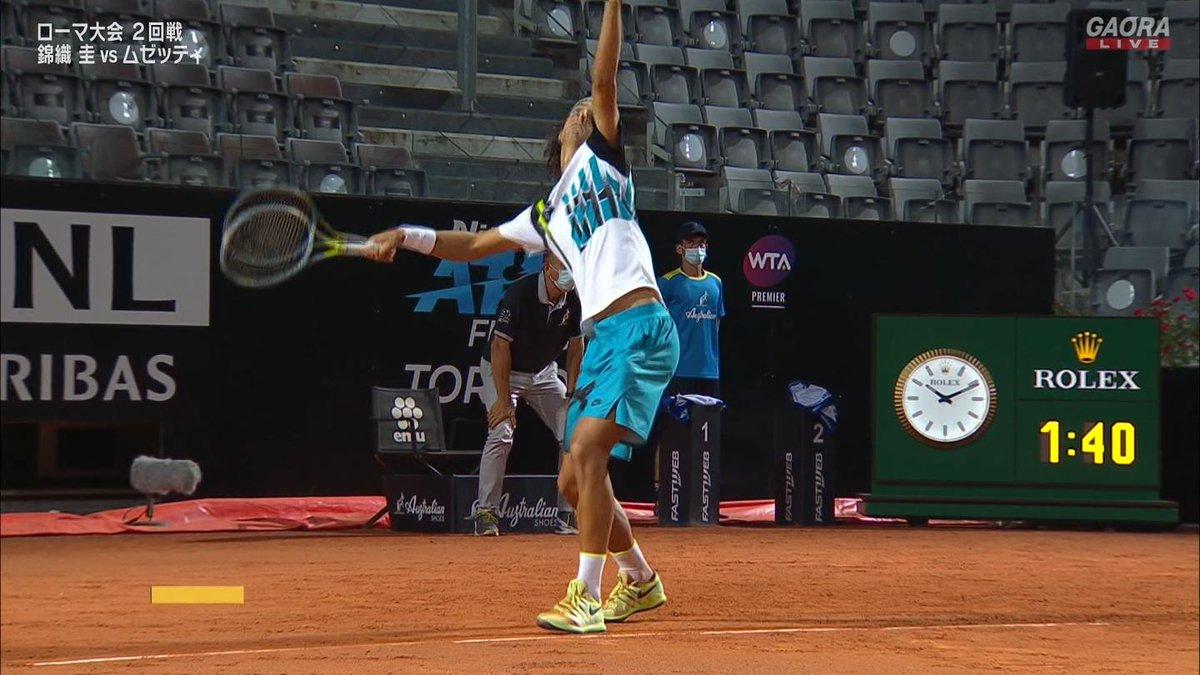 🇯🇵錦織圭 vs ムゼッティ🇮🇹 BNLイタリア国際 ATP Masters 1000 2回戦🎾 https://t.co/QQREXQWlsH
