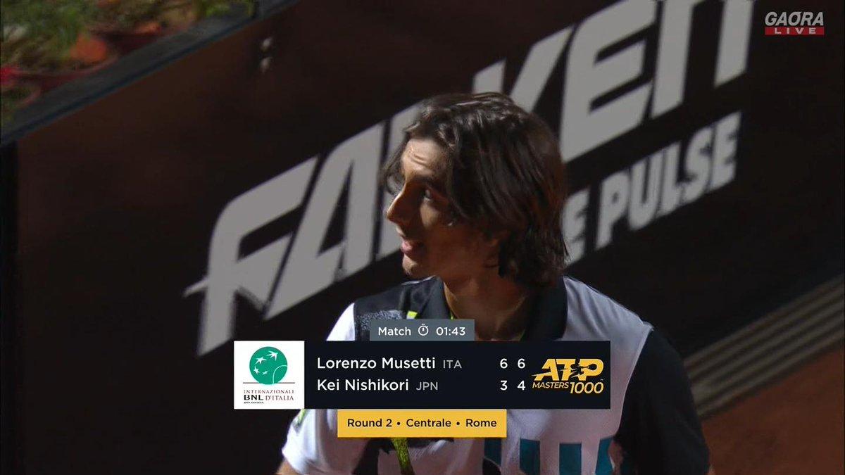 🇯🇵錦織圭 vs ムゼッティ🇮🇹 BNLイタリア国際 ATP Masters 1000 2回戦🎾 https://t.co/Nh9kkTrftm