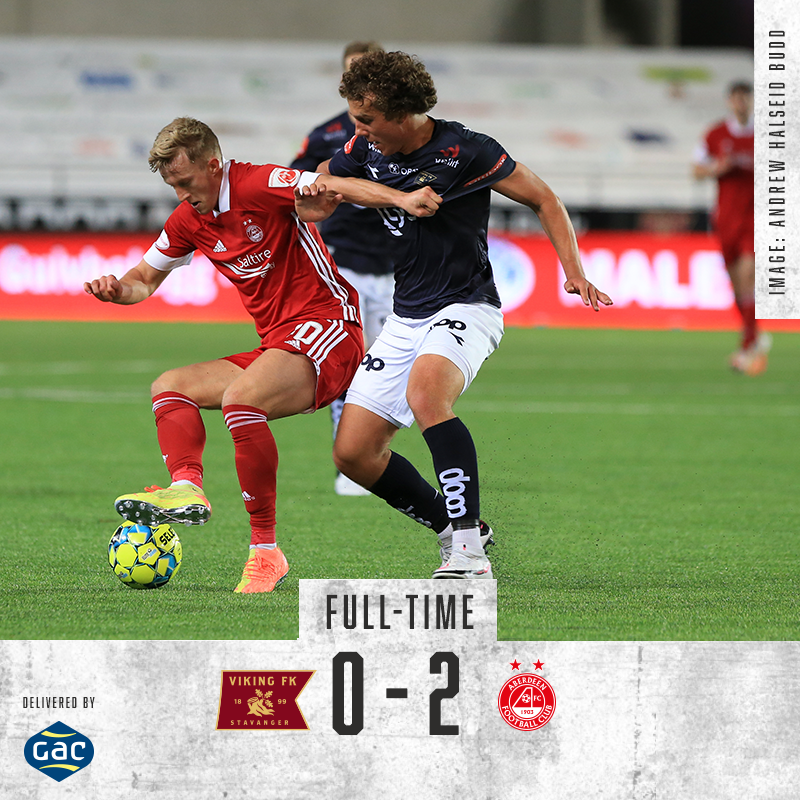 🔴 Full Time in Norway! The Dons are through to the next round in Europe. COYR! https://t.co/7ry1J5jMGi