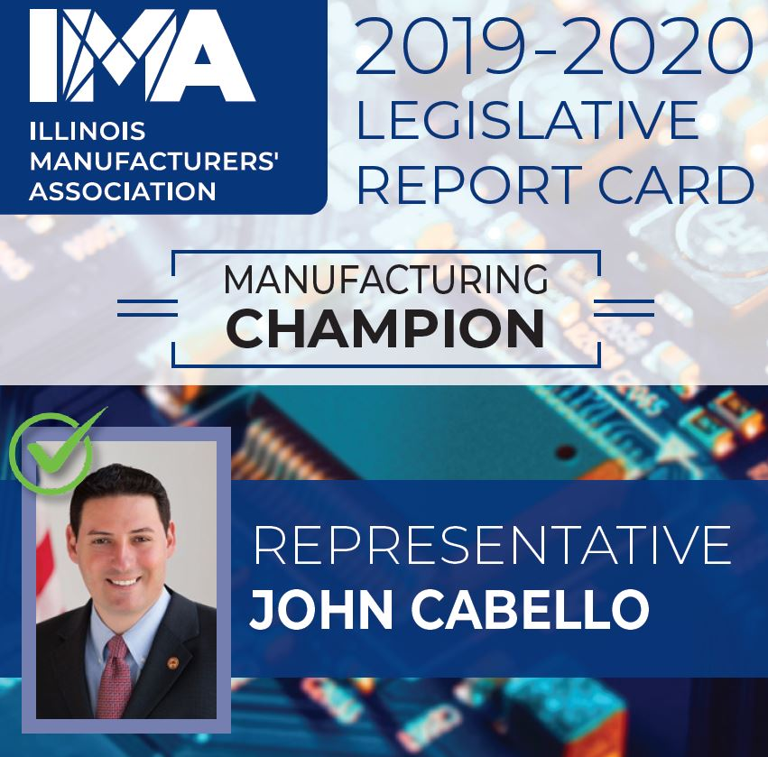 The IMA thanks State Representative @JohnCabello for being a Champion of #Manufacturing in Illinois!  https://t.co/zs3Y4QHfUf https://t.co/mUBIliP3FZ