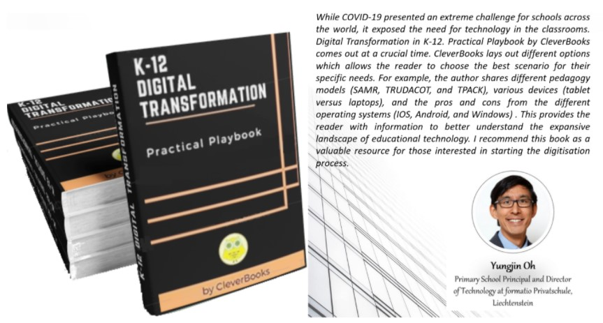 """Excited to share published """"Digital Transformation in K-12 Practical Playbook"""".  Thank you @Yungjin for the book review. https://t.co/5jirQT9Eb9  #CPD #futureready #futureskills #k12education #strategicmindset #emergingtechnologies https://t.co/H6l1WOAi1z"""