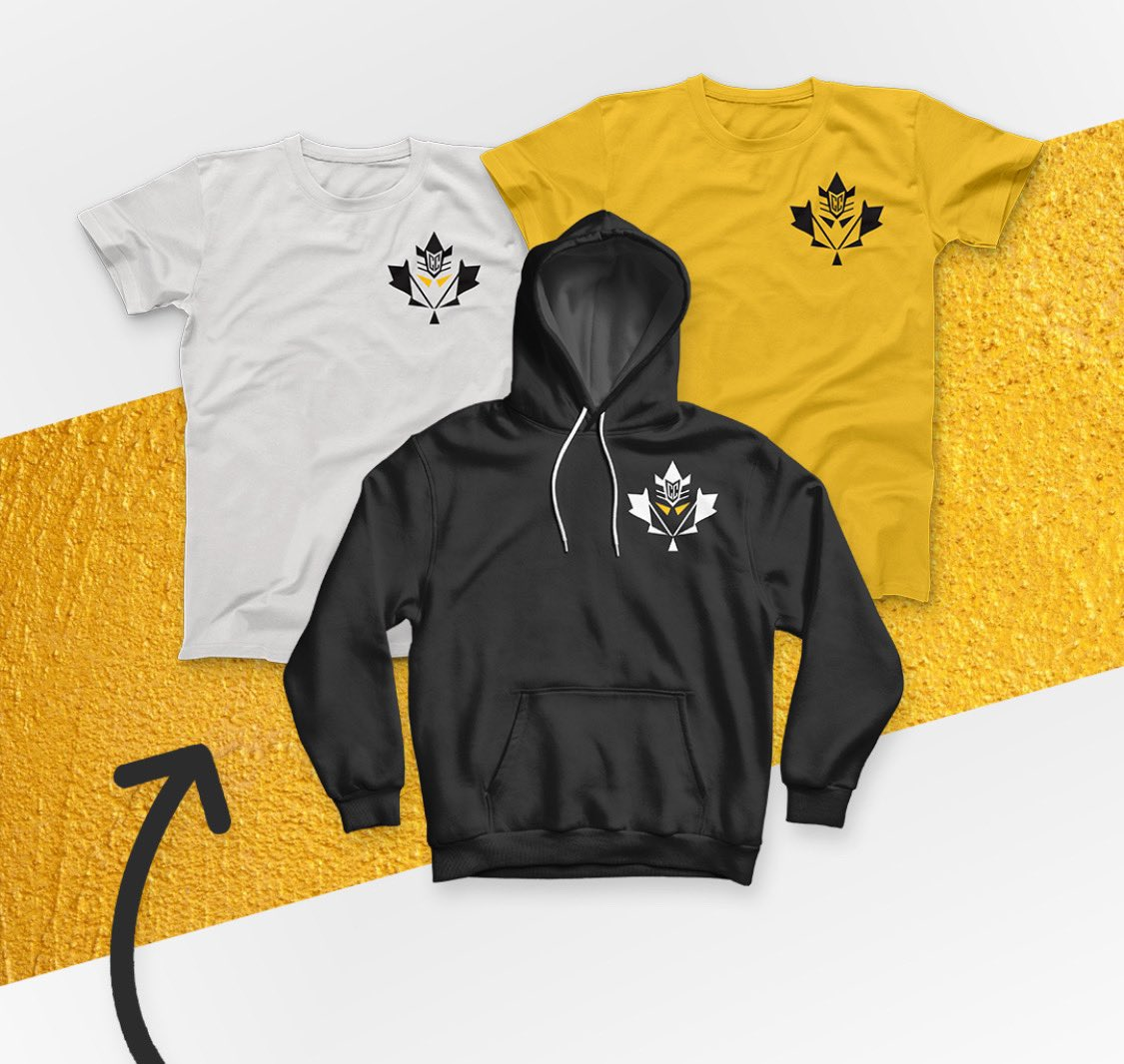 You guys asked! We delivered!  Mapletron merch just dropped and it's available at   Retweet for a chance to win a free care package 💛🖤