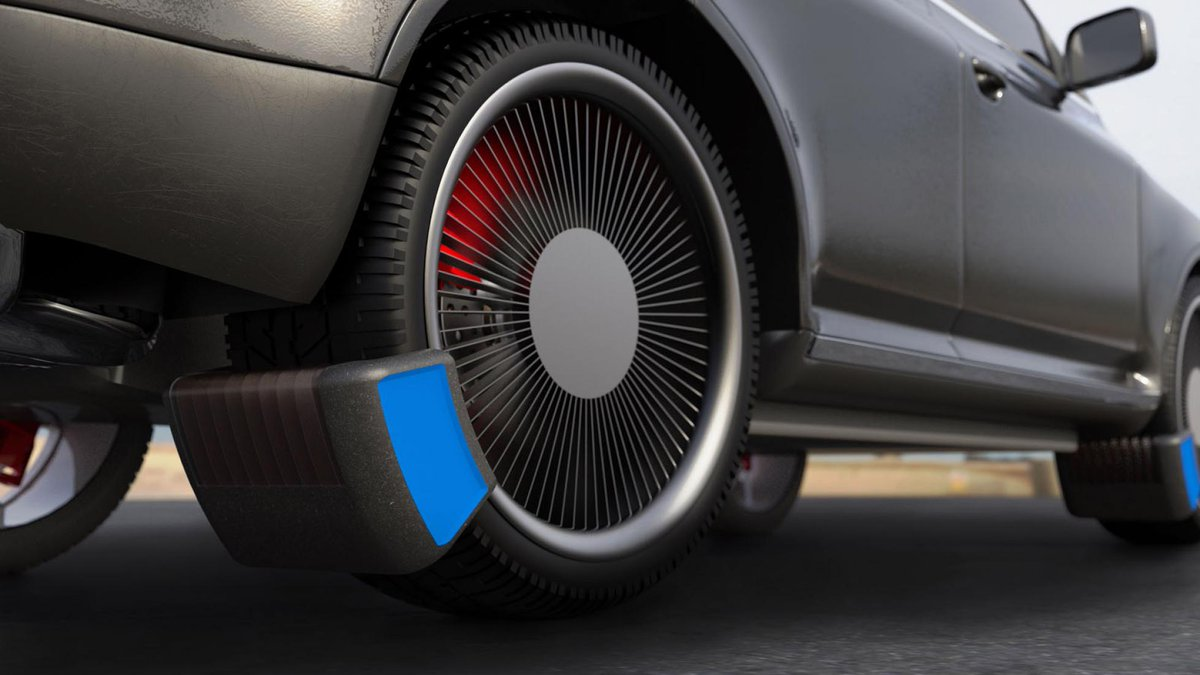 This clever device helps reduce tyre emissions. New device captures nasty rubber particles as you drive along → https://t.co/f7fRGh8g73 https://t.co/nGS80XHzCN
