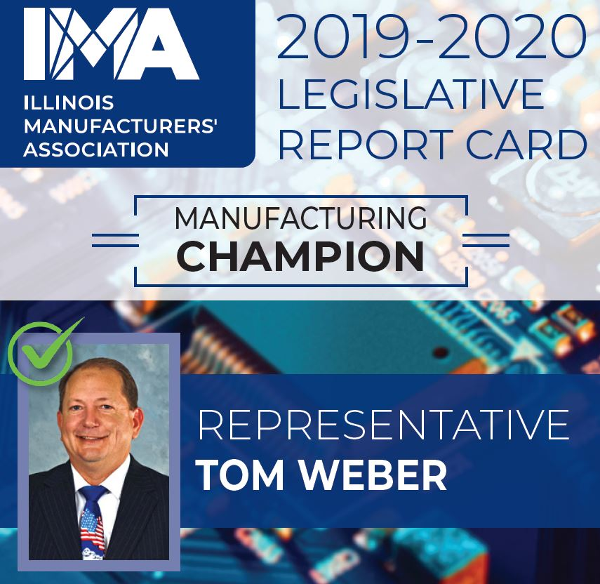 The IMA thanks State Representative @TomMWeber for being a Champion of #Manufacturing in Illinois!  https://t.co/zs3Y4QHfUf https://t.co/dFukV5wXy8