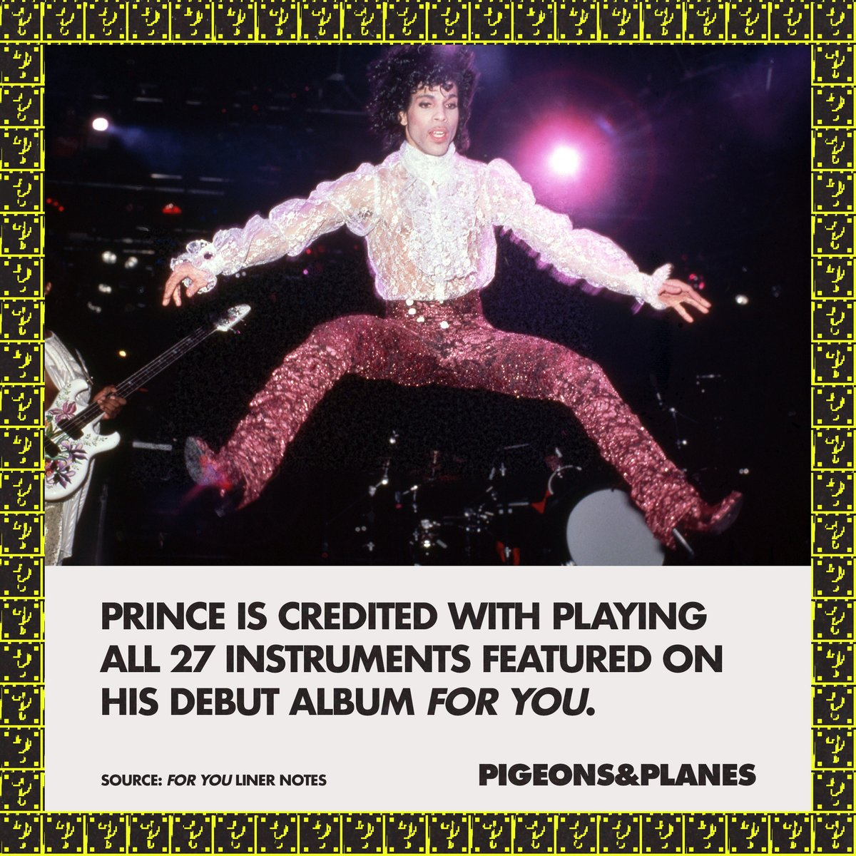 """From electric guitar and drums to """"hand claps and finger snaps,"""" every sound on 'For You' was performed by Prince. He is also credited as producer, arranger, composer, and performer for every track on the album. https://t.co/sfwcOUJiPs"""