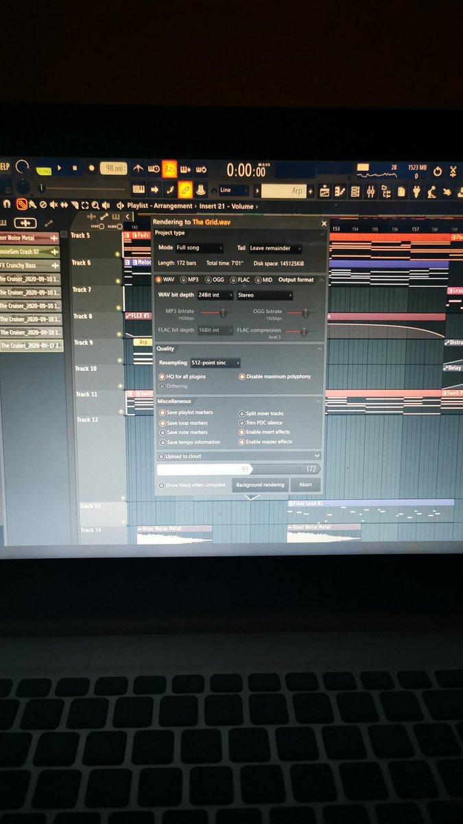 Please by the final mix 🤞🏻 #LAZERLVST #seizethenight #synthwaveartist #synthfam #darksynthwave #retrowave #cyberpunk #flstudio20 #mixing https://t.co/57HZbr58cZ