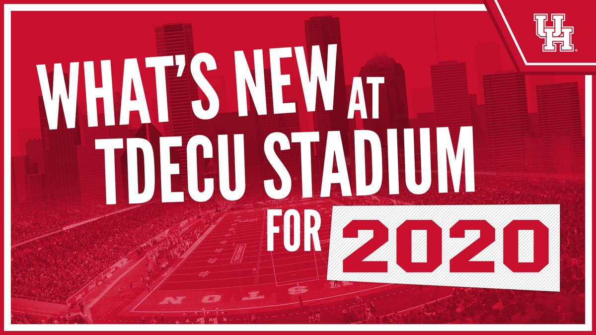 We'll be back inside TDECU Stadium in just nine days for @UHCougarFB.   What's New for 2020 » https://t.co/lH8je3zbwA  #WeAreHouston https://t.co/hfxpNvFdlj