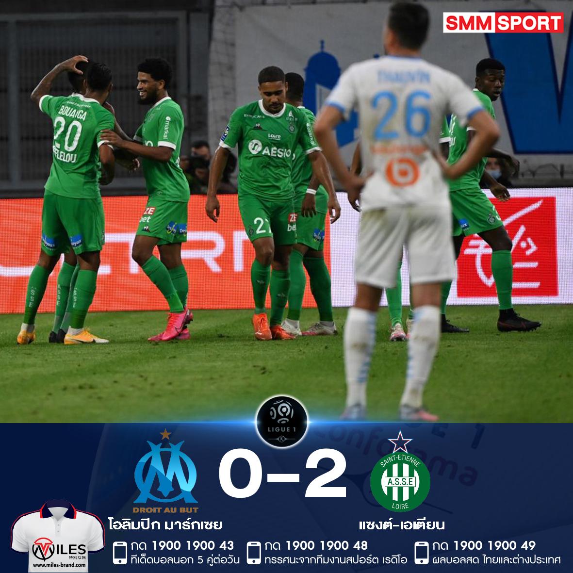 เอเตียน ทะยานนำฝูง! บุกขยี้ 'โอแอม' สตาร์ทซีซั่นสุดหรู ชนะ 3 นัดรวดแบบไม่เสียประตู  ⚽️ 0-1 : Romain Hamouma น.6 ⚽️ 0-2 : Denis Bouanga น.75  #สกอร์สด https://t.co/oSSZbpdUMC  #SMMSPORT #ลีกเอิง #Ligue1 🇫🇷 #โอลิมปิกมาร์กเซย #OlympiqueMarseille #แซงต์เอเตียน #SaintEtienne https://t.co/YCNuTDtZff