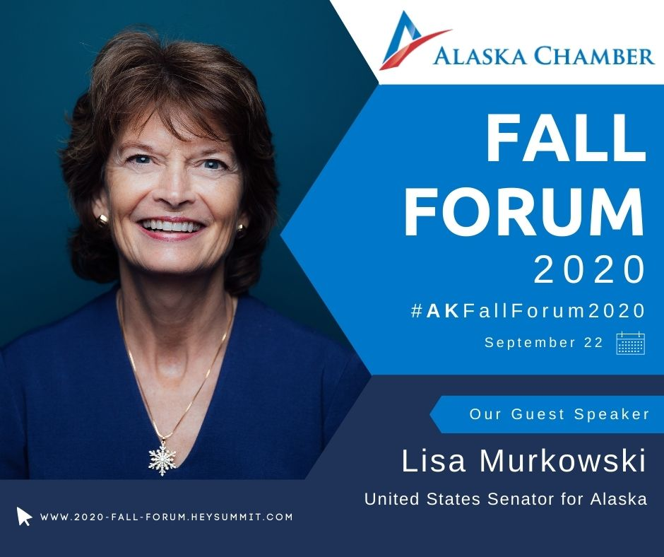 We are excited to announce Senator @lisamurkowski will be joining us on September 22! Don't miss out on The Congressional Delegation Townhall Session and get your COMPLIMENTARY tickets today: https://t.co/lbA0iFR0gd  #AKFallForum2020 https://t.co/IMVVp6XAbl