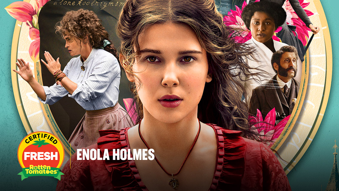 #EnolaHolmes is now #CertifiedFresh at 88% on the #Tomatometer, with 41 reviews: https://t.co/a7rhJKi00D https://t.co/VCnytBX3Cz