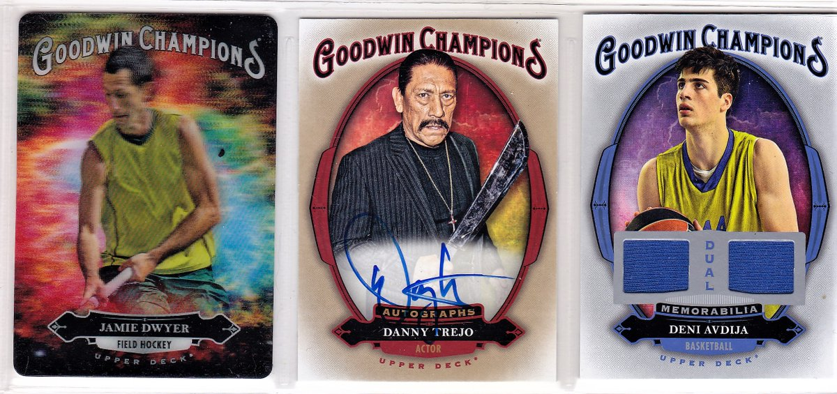 Some great looking inserts and autographs from 2020 @UpperDeckSports Goodwin Champions. Check our box break video below to see the eclectic range of athletes and celebrities in this year's set.  https://t.co/h8Z1M6VRrm https://t.co/FrOlPeQ4J5