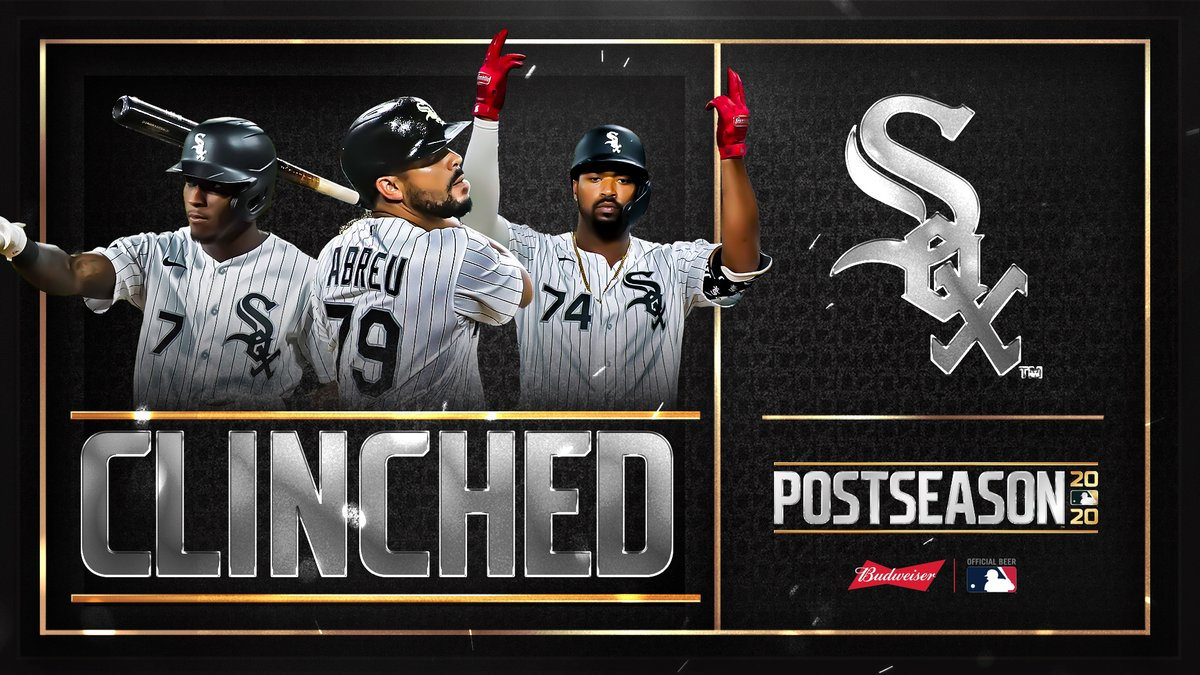 For the first time in 12 years, the @WhiteSox are headed to the #postseason! #CLINCHED https://t.co/AgM2prewAC