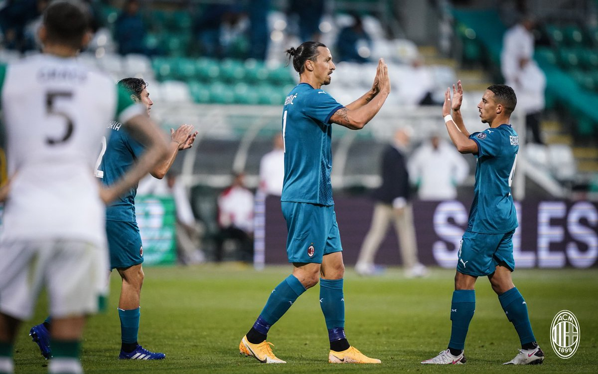 #RoversMilan: our European debut ends with a win thanks to goals by @Ibra_official and @hakanc10. Read our match report ▶️ https://t.co/CyX1SEMYt8  Ibra e Calha: due gol per superare lo Shamrock Rovers a Dublino. Leggi il match report ▶️ https://t.co/VLzrnI0PMj  #SempreMilan #UEL https://t.co/kF35HJMERk