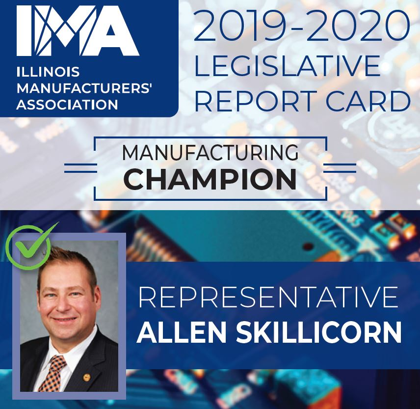 The IMA thanks State Representative @allenskillicorn for being a Champion of #Manufacturing in Illinois!  https://t.co/zs3Y4QHfUf https://t.co/W0L15GYz6E