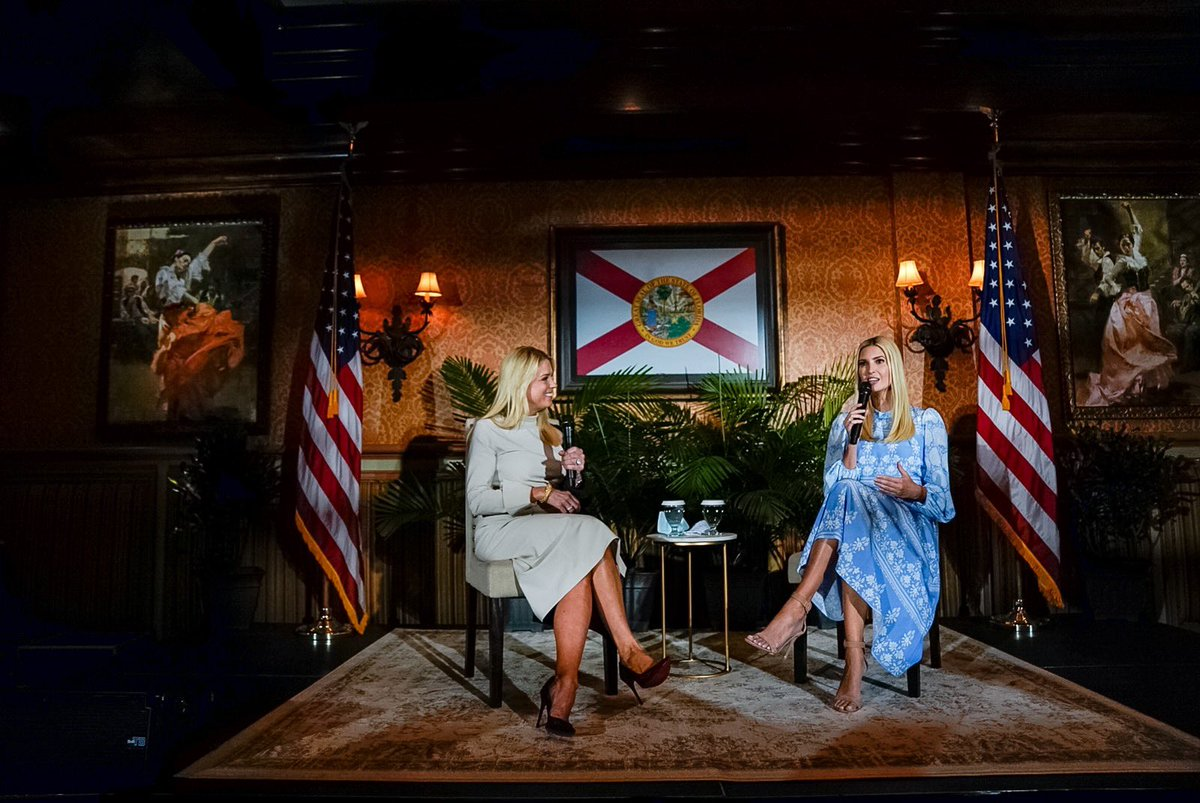 Florida loves Ivanka Trump! 🇺🇸Fireside chat at Tampa's historic Columbia Restaurant.