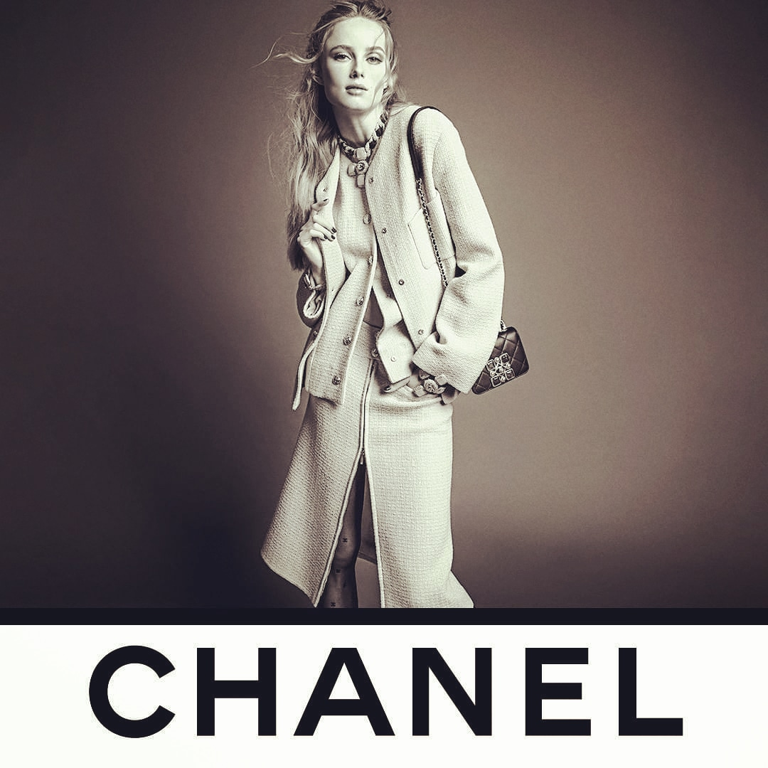 Loving @CHANEL❤Photographers @inezandvinoodh shows model Rianne VanRompaey modeling a CHANEL tweed suit that is reinterpreted in a three-piece version with a jacket.See the CHANEL Fall-Winter 2020/21 Ready-to-Wear collection now at boutiques and https://t.co/gNb6QVxqgB.❤💕💙💜 https://t.co/thbkMlinQu
