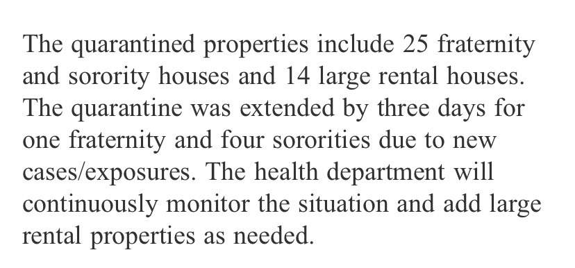 🚨 Breaking 🚨 11 more large houses in East Lansing put under mandatory quarantine by @InghamHealth due to #COVID19 outbreak. Excerpt from the county release is attached. @1320WILS https://t.co/DUcDXMyD17