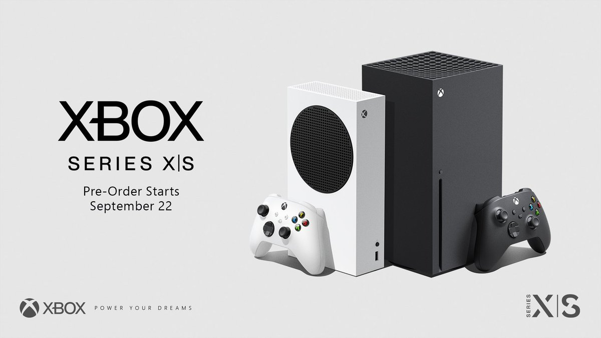 🎮 Pre-order the Xbox Series X and Xbox Series S starting on September 22  🎮 Xbox All Access pre-orders will also begin  🎮 It's all finally happening  Get your exact local start time and participating retailers here: https://t.co/J0aD6zo9C5 https://t.co/eXoti60WDg