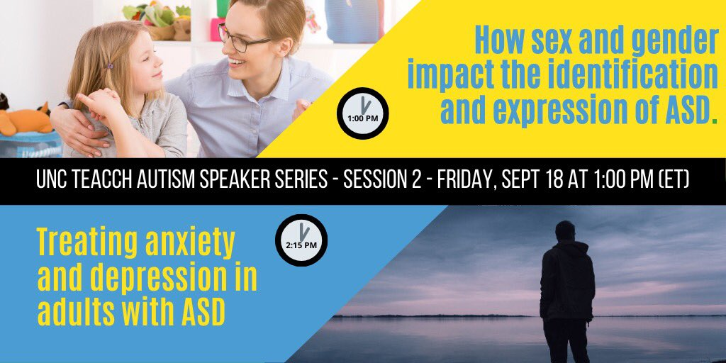 FPG Fellow and @UNC_AHS Assistant Professor Clare Harrop will be speaking at 1 pm today on how sex and #gender impact the identification and expression of #ASD. Don't miss out, register now: https://t.co/OxYFUFK07m https://t.co/SzM7PaGhbN
