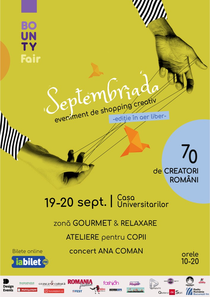 Sprijină afacerile independente și creația locală la Bounty #Fair Septembriada ! Pe 19 si 20 septembrie, la Casa Universitarilor din #Bucuresti. #targurisiexpozitii #Romania #AgendaExpo ▶️▶️▶️ https://t.co/DyIqUEp6Bc https://t.co/pwzE9TmAeu