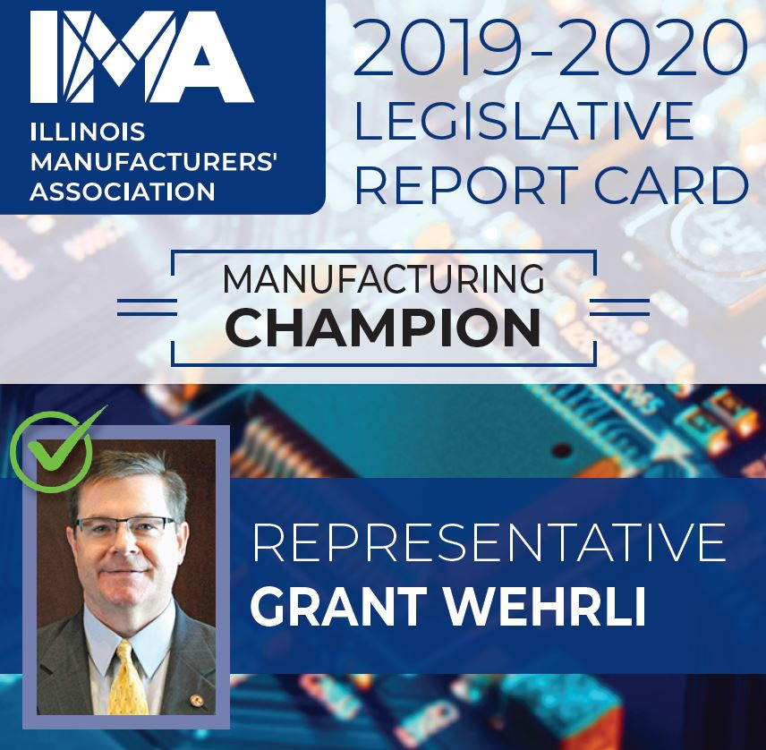 The IMA thanks State Representative @GrantWehrli for being a Champion of #Manufacturing in Illinois!  https://t.co/zs3Y4QHfUf https://t.co/0DoWZrbyra