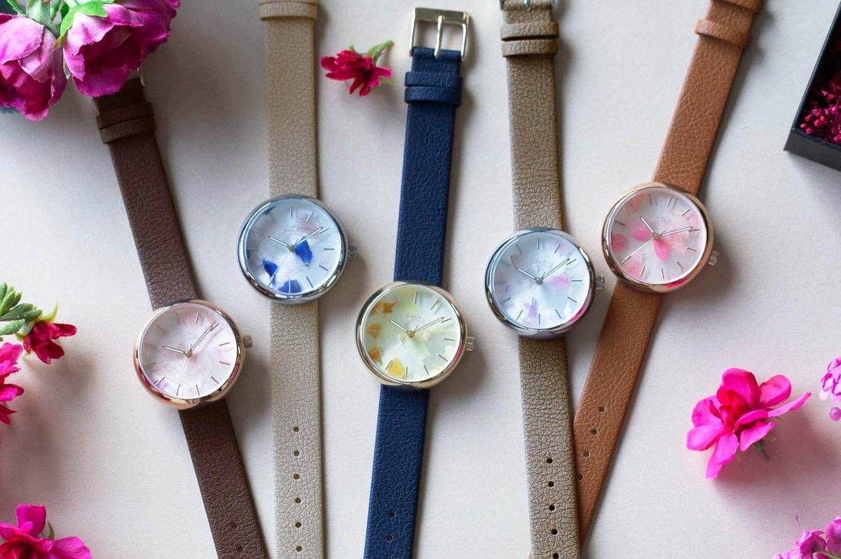 [明日発売] 「スピカ」本物の花びらを文字盤にとじこめた新作腕時計、グイ フラワーデザインとコラボ -