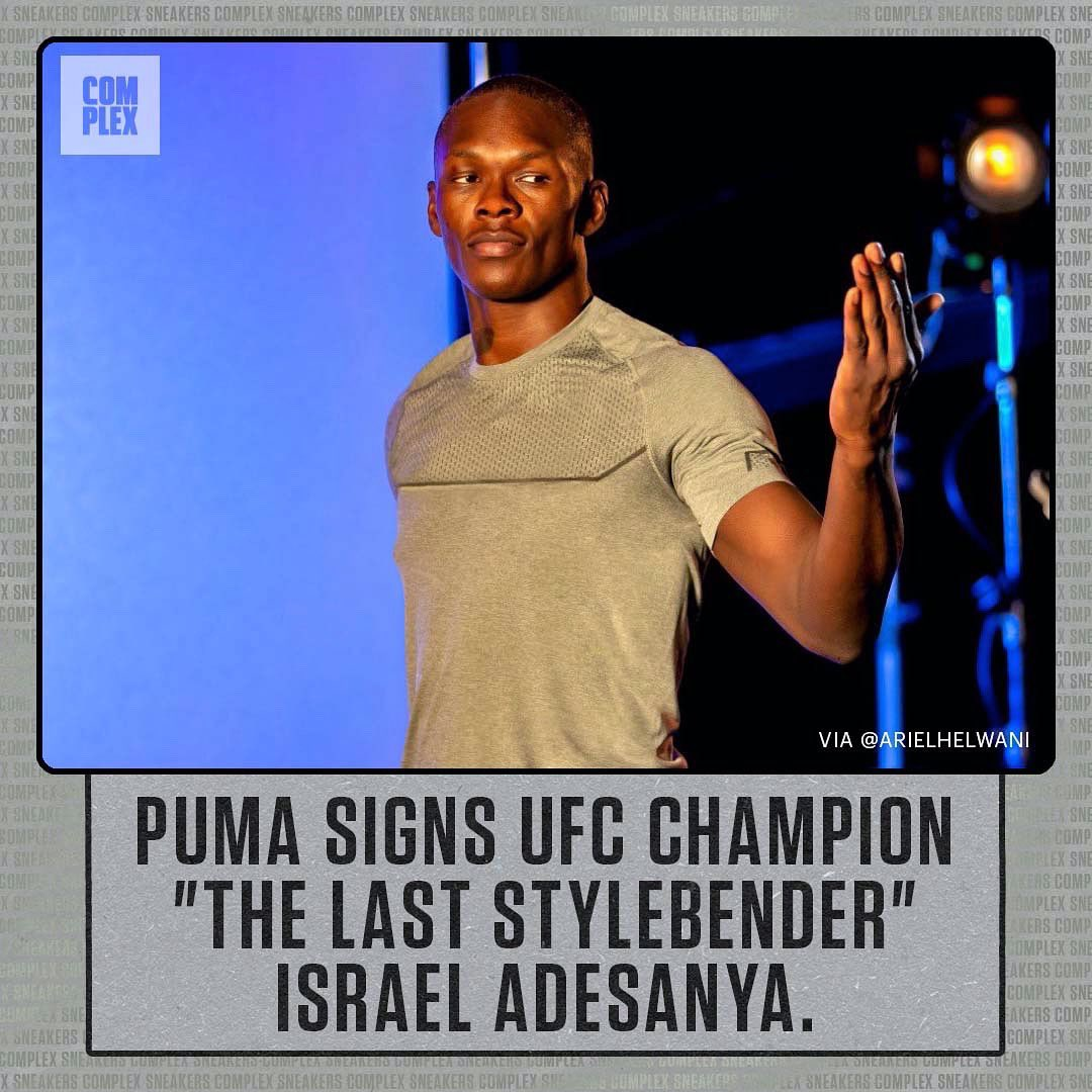 .@PUMA keeps making moves. @stylebender becomes the first MMA fighter to sign a deal with the brand, per @arielhelwani. https://t.co/bs2ec3mvbQ