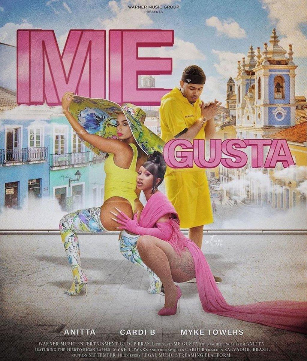 ".@Anitta shares ""Me Gusta"" f/ @iamcardib and @myketowerspr: https://t.co/uk5BueYvjZ https://t.co/KmRNKEGXch"
