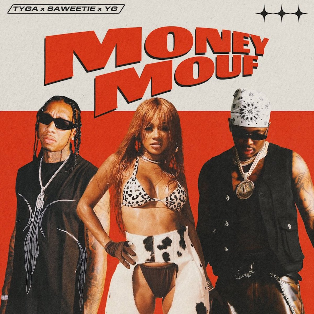 """.@Tyga taps @YG and @Saweetie for new track """"Money Mouf"""": https://t.co/zxSwNPNght https://t.co/btiKjCMCw3"""