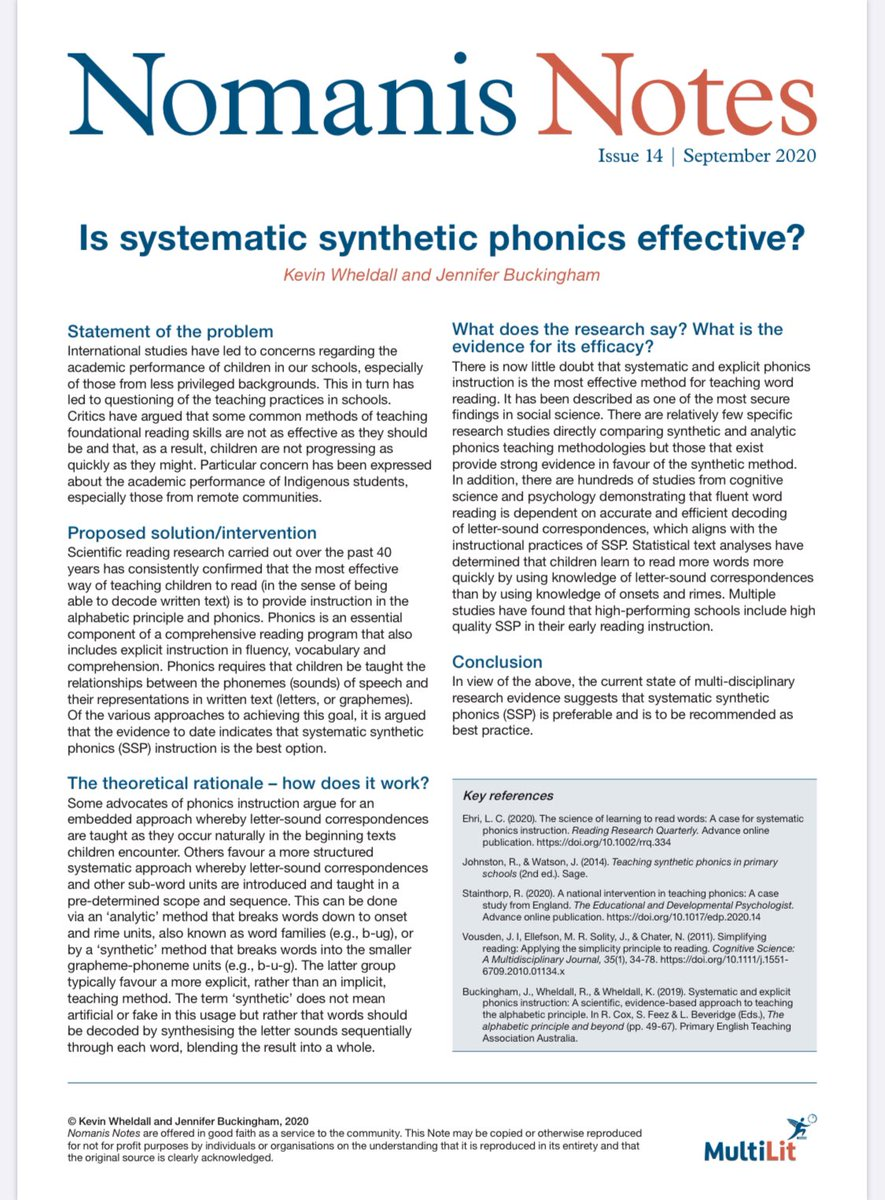 MultiLit programs use a systematic synthetic approach to phonics instruction. This is why.