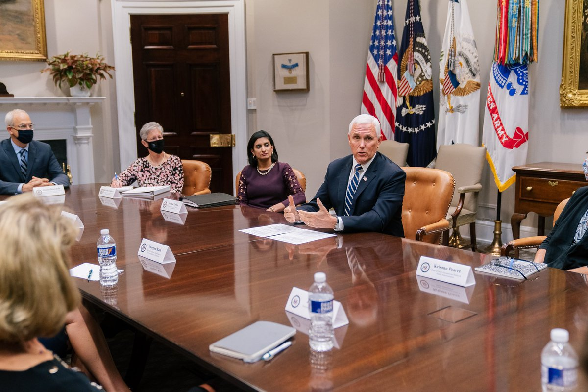 Pleased to be joined by @SeemaCMS and the Coronavirus Commission for Safety and Quality in Nursing Homes at the @WhiteHouse today.