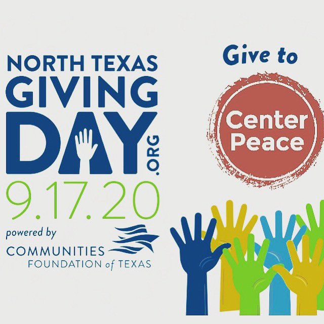 Friends, thanks so much for your gifts to CenterPeace today! Thanks to your generosity, students won't miss #e32020 because of cost. We still have a few hours to meet our goal of $1000, so dig deep! #NorthTexasGivingDay https://t.co/q9sv9tMKBn