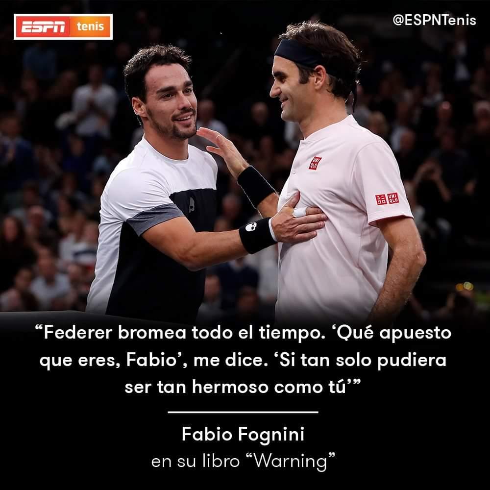 Algunas frases del libro de Fabio Fognini sobre #Federer, #Nadal, #Murray y #Pennetta https://t.co/TWDrHitUsJ