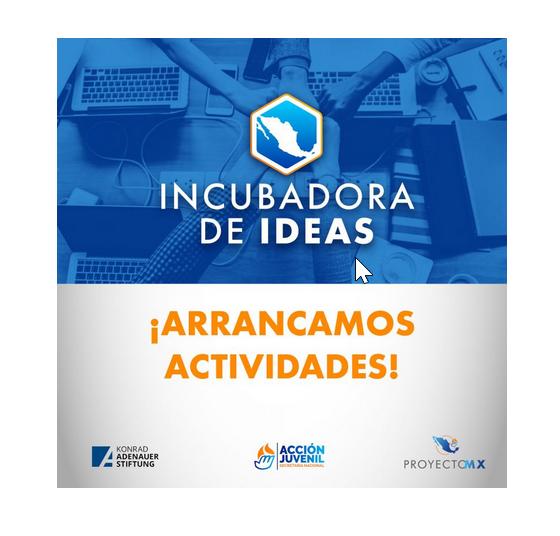 """#Entérate 🗞  El pasado 5 de agosto, @AccionJuvenil, en colaboración con la #KASMéxico, inauguramos los trabajos de la segunda etapa de Proyecto MX """"Ideas y Acciones para Sacar a México Adelante"""", denominada """"Incubadora de Ideas"""". 🇩🇪🤝🇲🇽    Conoce más: https://t.co/WjNoG6OBBG https://t.co/fc6XaKYqSP"""