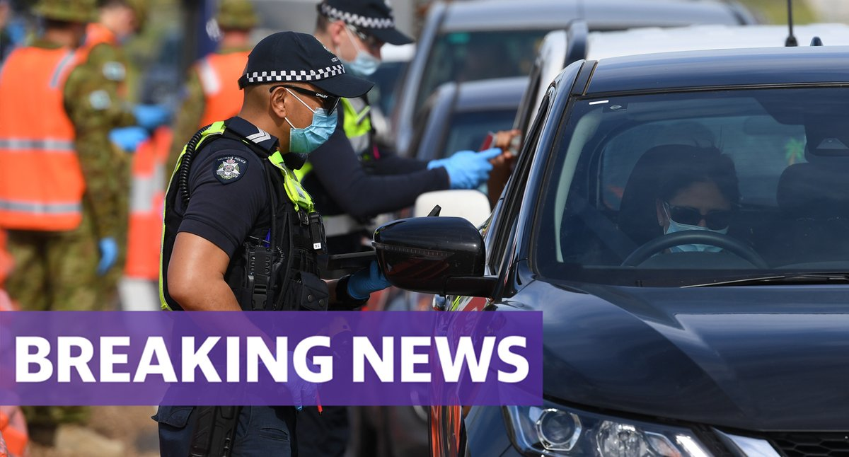 #BREAKING: Victoria's daily #COVID19 cases have risen to an eight-day record of 45, as the state recorded five more deaths.  https://t.co/rf68peDxYF https://t.co/p5dzo7e9vn