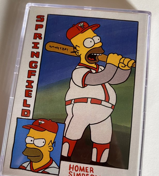 ya know what? it's my mom's birthday and this is one of her favorite simpsons episodes, so i'm giving away a Homer at the Bat set from https://t.co/BNFaYcYufO (with a bonus Mattingly variation!). RT for a shot, i'll give away a set on Sunday night! https://t.co/1s5QgOyu9h