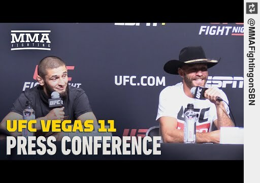 Check out #UFC Vegas 11 #PressConference - MMA Fighting https://t.co/K3jkoUYV8H #mma https://t.co/iUBEhshv74