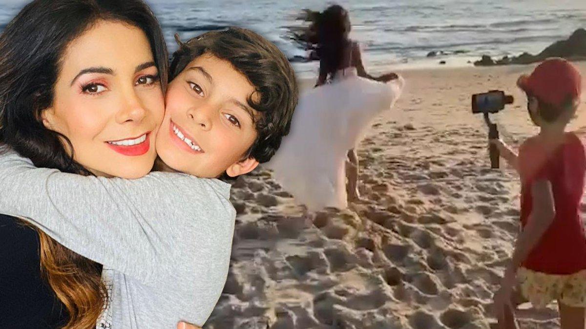 """El hijo de Paty Manterola tiene 8 años y debutó como el """"señor director"""" de su nuevo video musical https://t.co/cKCbNxm4eT https://t.co/gPMPyj691f"""